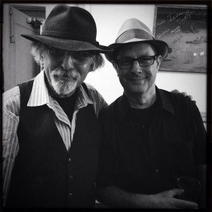 Art (left) with Phillip Johnston. Photo by Sarah Shatz.