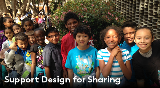 Support Design for Sharing